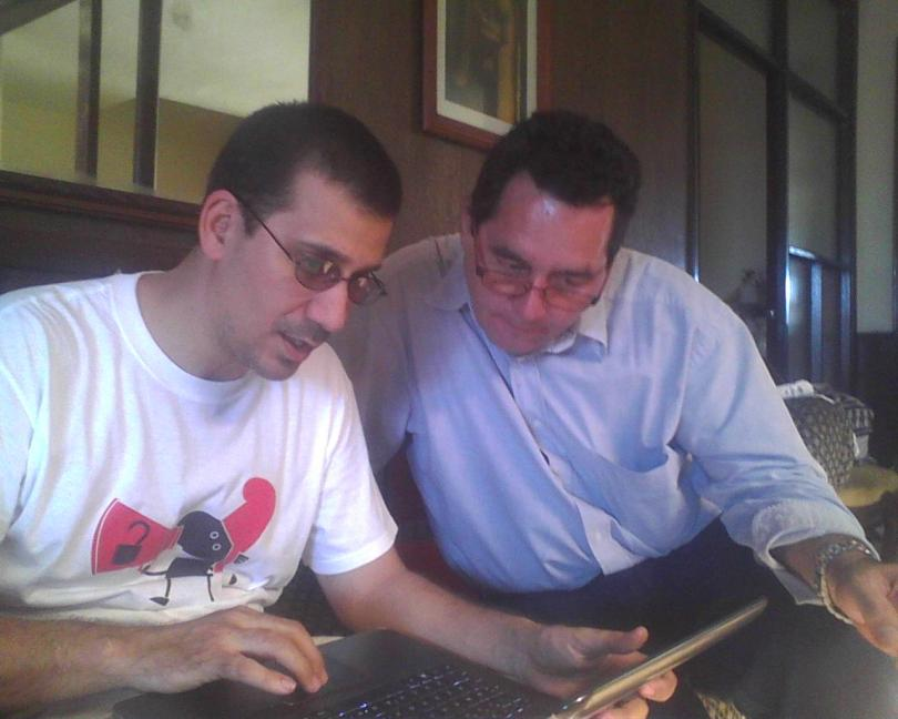 Angel Santiesteban y Antonio Rodiles febrero 25