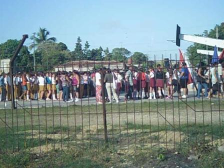 Acto de provocación realizado el 23 de febrero del 2013, 3er aniversario de la muerte de Orlando Zapata Tamayo, frente a la vivienda de Jorge Vázquez en Sagua la Grande.4
