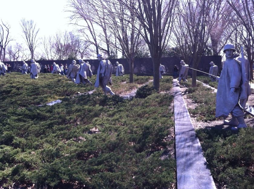 En honor a los soldados caídos en la guerra con Corea