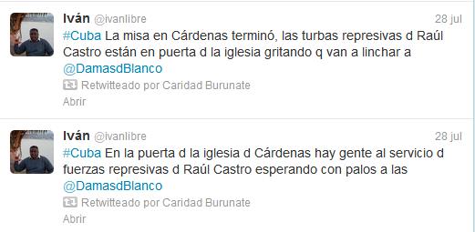 @ivanlibre denuncia en twitter