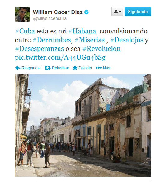 William Cacer Diaz ‏@willysincensura
