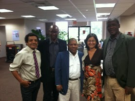 De iz a der Luis Felipe Rojas, Manuel Cuesta, Lenardo Calvo, Idolidia Darias, Juan A Madrazo durante visita a Miami, mayo 2013