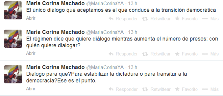 reacciones twitter dialogo 2 maria corina
