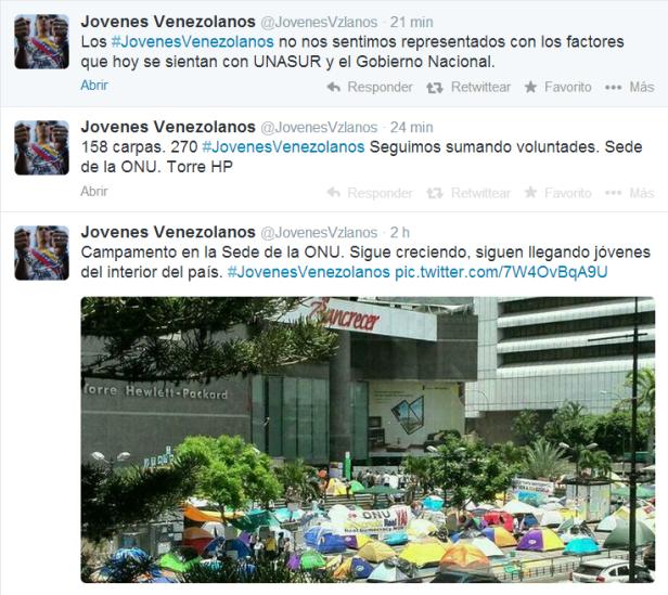 reacciones twitter dialogo 3 jovenes vzlano