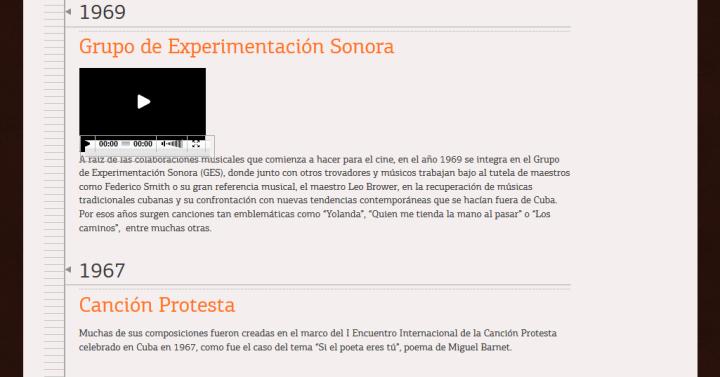 Página web de Pablo MIlanés