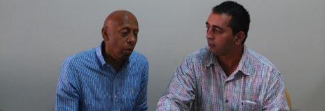 José Ramón BOrges (der) junto a Guillermo Fariñas