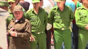 Militares dirigen acto de repudio A la izquierda el Coronel Francisco Darias Jede del MININT en Santa Clara