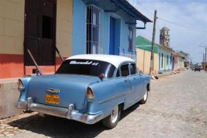 Autos antiguos en Trinidad
