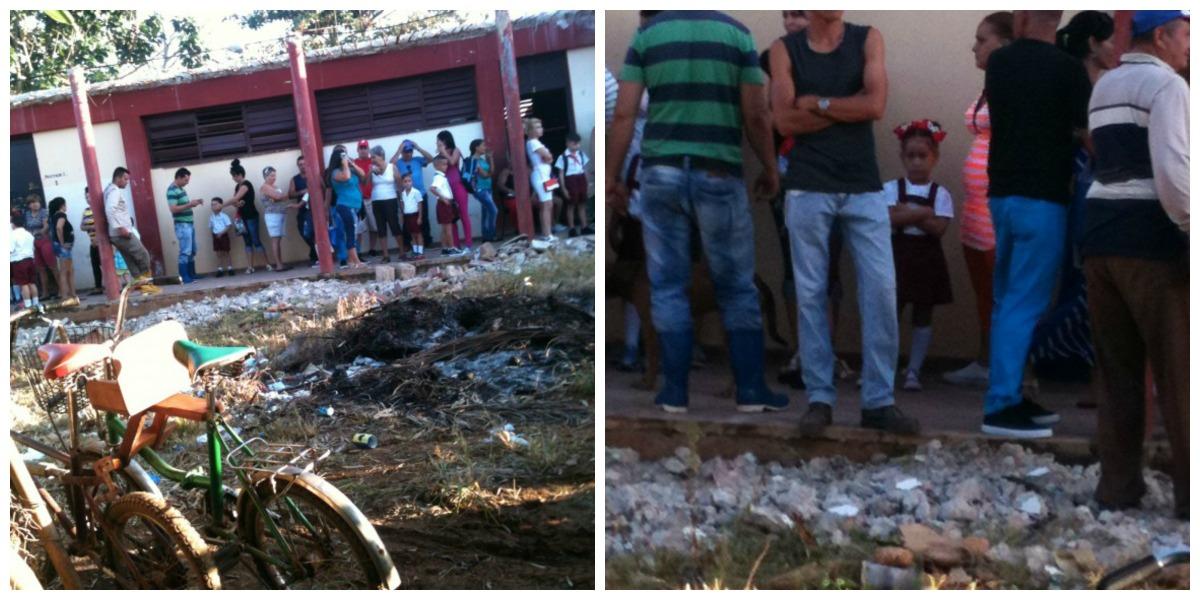 Escuelas inician curso escolar en medio de escombros y suciedad