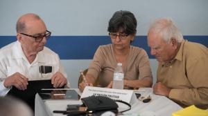 Francisco Javier Denis (Izq) Idolidia Darias y Paco Talavera (der) y