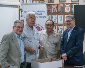 De izq a der José Albertini, Angel de Fana, Enrique Ruano y Pedro Corzo /Foto Wenceslao Cruz